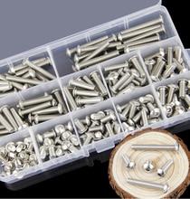 цены на 260Pcs/set M3 M4 M5 304 Stainless Steel Round and Hexagon Socket Head Cap Screws Hex Socket Bicycle Bolts Kit  в интернет-магазинах