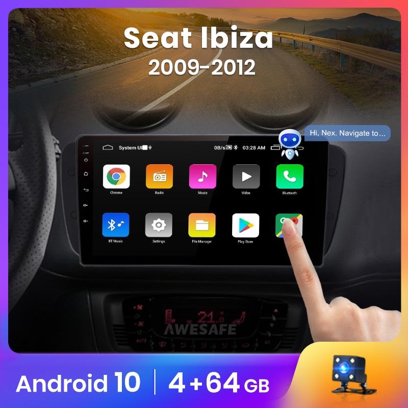 AWESAFE PX9 para asiento Ibiza 6j 2009-2013 auto Radio Multimedia reproductor de video GPS No 2din 2 din Android 10,0 2GB + 32GB