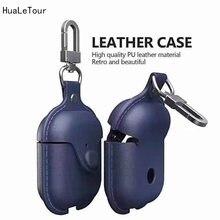 Кожаная сумка для хранения чехол наушников iphone airpods мягкий