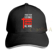 Realtor Sold Sign Real Estate Agent Agency Gift Baseball cap men women Trucker Hats fashion adjustable cap(China)