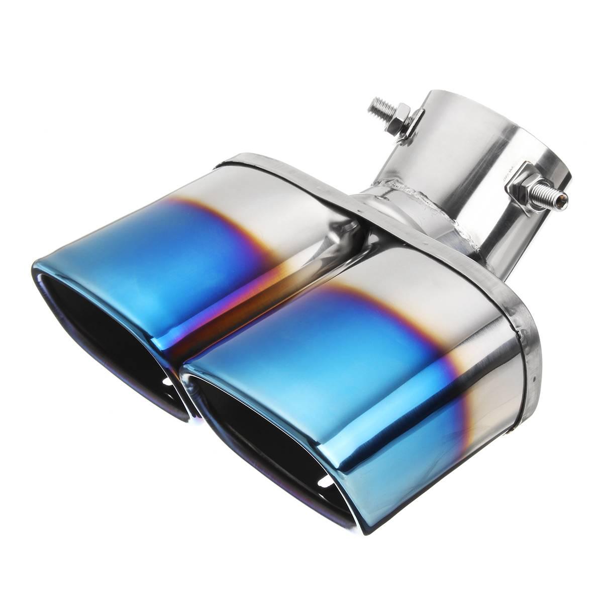 Universal praça dupla tomada meio-grelhado azul silenciador
