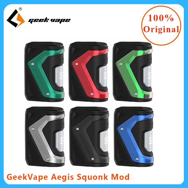 GeekVape egis Squonk 100W TC Mod 10ml bouteille d'huile Vape Mod cigarette électronique Squonk MOD ajustement goutte RDA/RDTA vs haut double