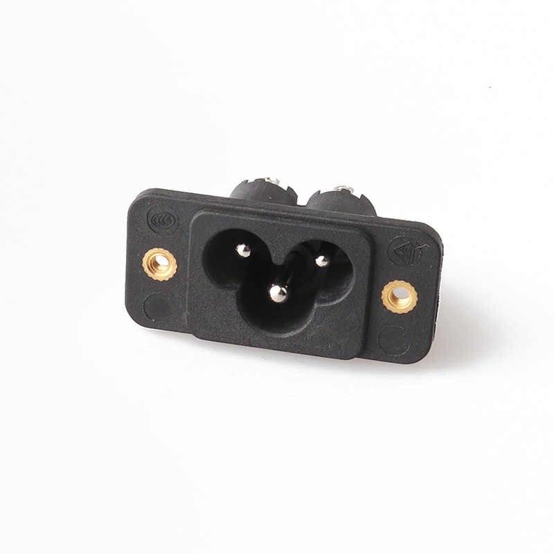 LZ-6-3TS1S1 C6 type AC power socket Mickey Mouse socket plum socket three core card with ear screw
