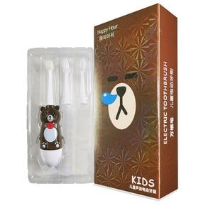 Image 5 - Children Electric Toothbrush Waterproof Sonic Vibrator Teeth Brush For Kids Cartoon Teeth Whitening Battery Powered