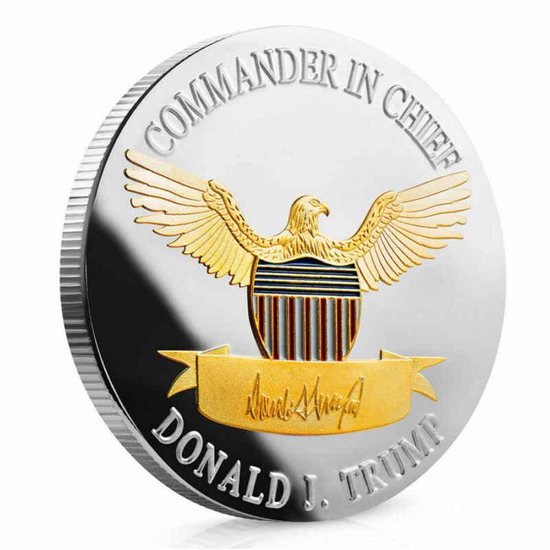 2020 الرئيس دونالد J. ترامب الفضة الذهب مطلي النسر التذكارية عملة إبقاء أمريكا كبيرة 45th الرئيس الجدة عملة الهدايا