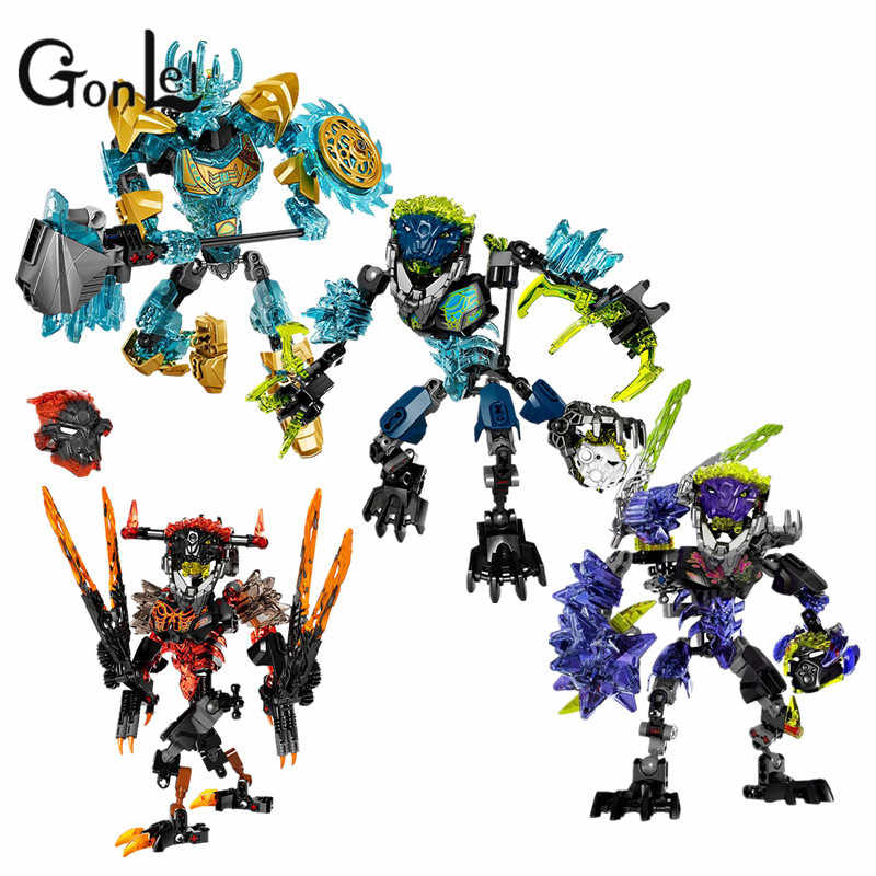 GonLeI 2017 New Compatible with Legoinglys BIONICLE Ekimu  Action Building Block Toys Bricks Kids toys Christmas gifts