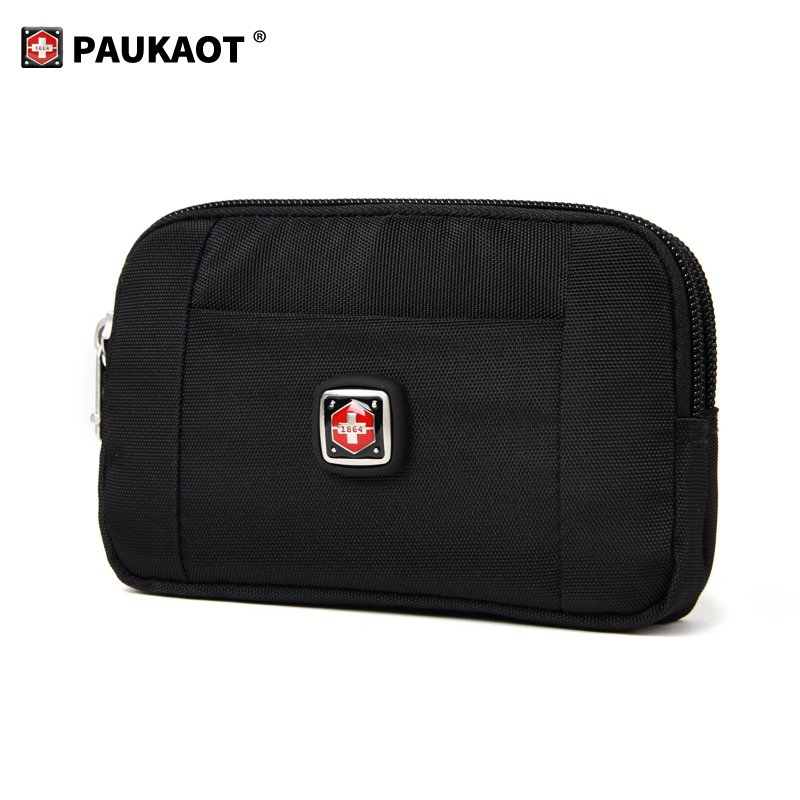 Horizontal Waist Belt Bags Casual Fanny Pack Belt Clip Bum Bags Money Wallet Purse, 4.5/5.8/6.4inch Phone Pouch Mobile Holster