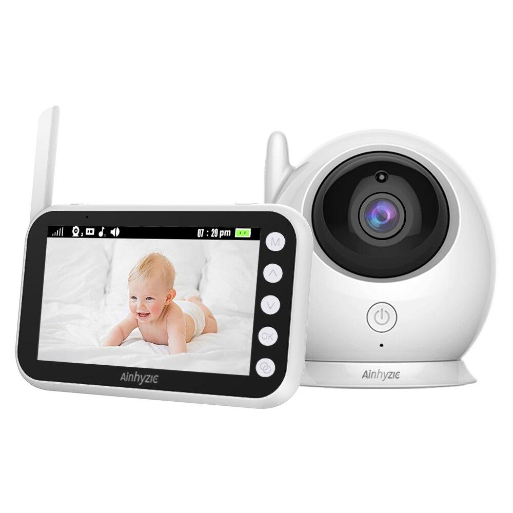 Ainhyzic 4.3 ''IPS écran vidéo bébé moniteur avec caméra, sans fil cri bébé alarme moniteur vidéo Vision nocturne sécurité Babysitter