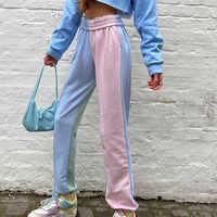 Pantalones de chándal holgados de cintura alta para mujer, pantalón informal, Harajuku, hip hop, color negro