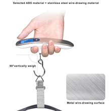 цена на LCD Digital Electronic Luggage Scale 50kg/10g Portable Suitcase Scale Stainless Steel Handled Travel Bag Weighing Hanging Scale