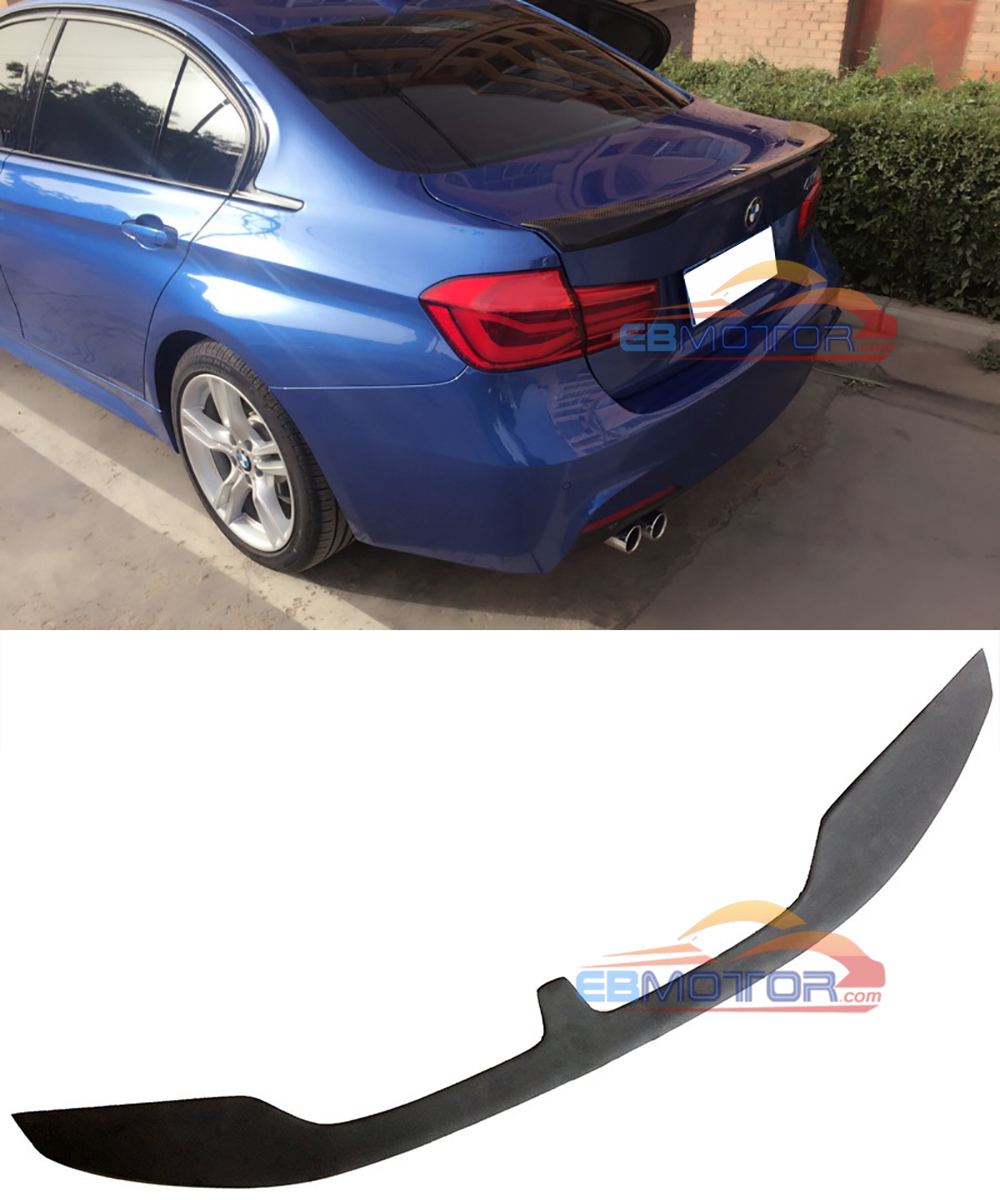 PAINTED  KT style rear trunk lip spoiler for BMW 3-series F30 Sedan 2012UP B386F