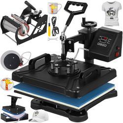 Máquina de prensado en caliente VEVOR, de 12X15 pulgadas, 5 en 1, 6 en 1, 8 en 1, máquina de prensado en caliente para camisetas