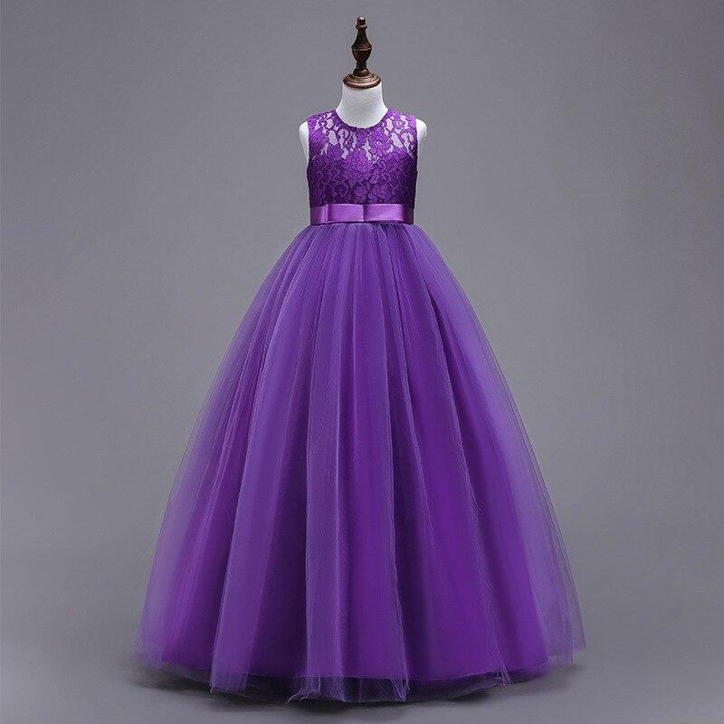 New Style CHILDREN'S Dress Princess Dress Big Boy Wedding Dress Long Tutu Girls Lace Princess Dress