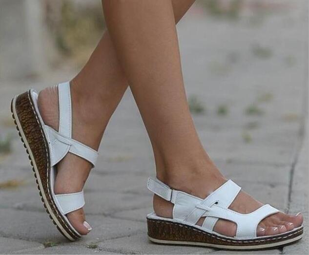 Orthopedic Flat Sandals Women Men Bunion Corrector Low Heels Walking Sandals Buckle Toe Corrector Open Toe  Sandalias De Mujer