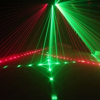 Mini 4in1 Pattern Effect RGB Linear Whirlwind Laser Projector Stage Disco DJ Club Bar KTV Family Party Light System Show