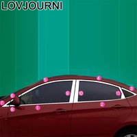 Janela do carro tronco painéis traseiros maçaneta da porta exterior decorativo modificação automóvel cobre 10 11 12 13 14 15 16 para hyundai verna