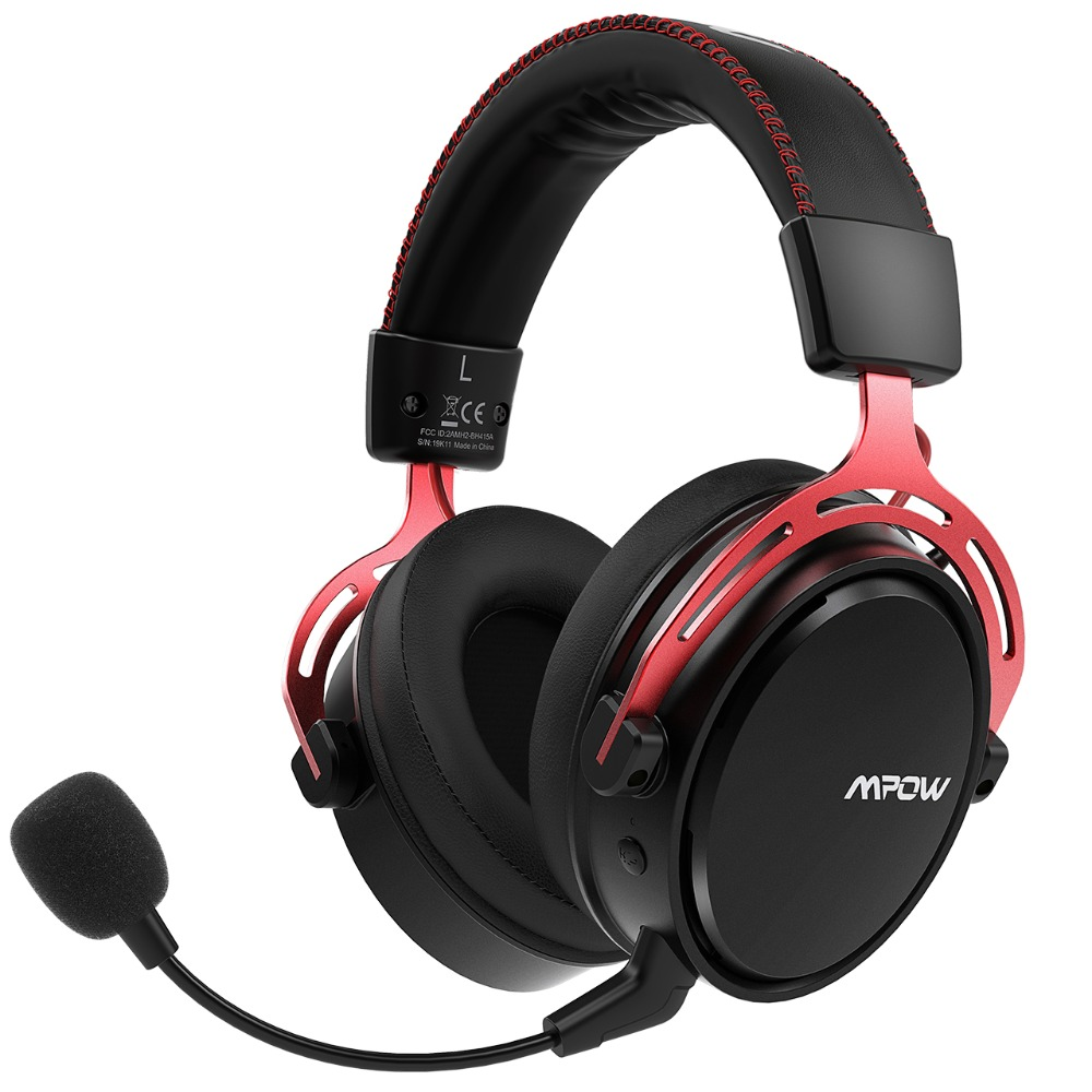Mpow Bh415 Gaming Headset 2 4ghz Wireless Headphones 3 5mm Wired Earphone With Noise Canceling Mic For Pc Gamer For Ps4 Xbox One Aliexpress