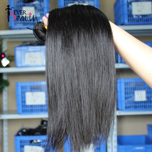 Image 3 - Straight Brazilian Hair Weave Bundles Human Hair Bundles With Closure Hair Extension Ever Beauty Natural Black Virgin