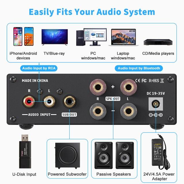 Усилитель мощности Fosi Audio BL20C, Bluetooth,  2*160 Вт