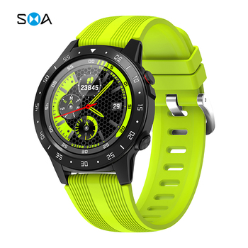 цена на SMA-M5 GPS Men's Smart Sports Watch with Compass Barometer Heart Rate Monitor Bluetooth Phone Call Smart Watch for Android IOS