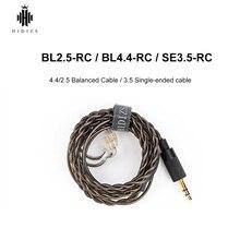 HIDIZS kabel zbalansowany BL2.5 RC BL4.4 RC kabel zbalansowany SE3.5 RC czarny kabel jednostronny z 2Pin 0.78mm wykonany dla MS1 MS4