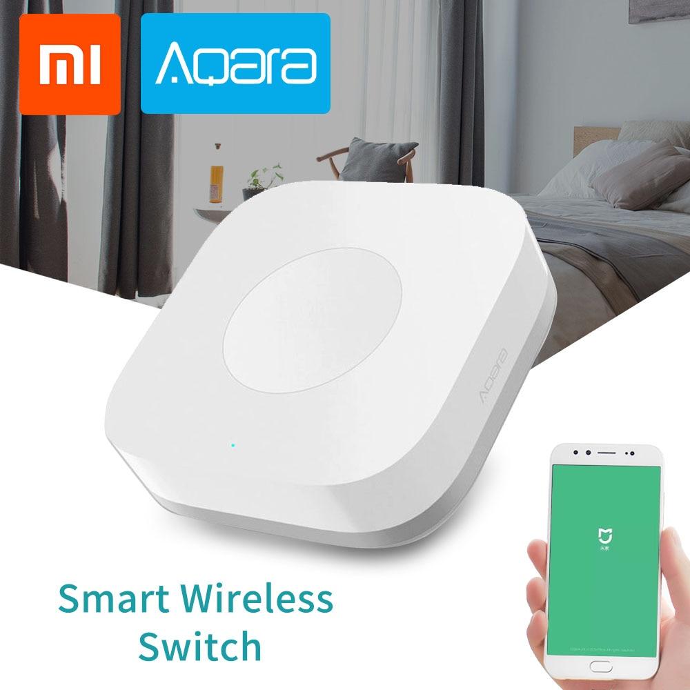Xiaomi Aqara Smart Wireless Switch For Mi Home App Remote Control Security Alarm ZigBee Wifi Connection 1 Gang Key Switches