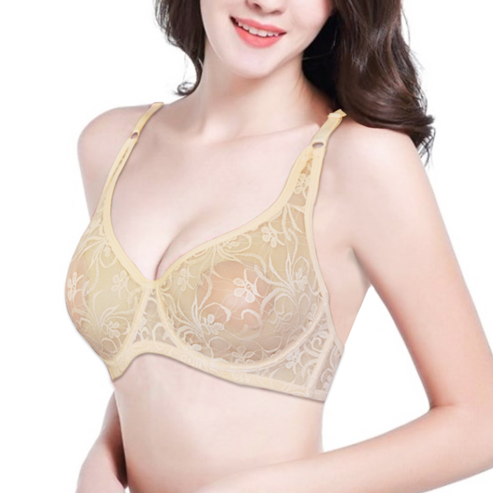 Bras For Women Lace Sheer Floral Bralette Underwire Bra Underwear Embroidery Sexy Lingerie Brassiere BH Top A B C D DD Cup 1