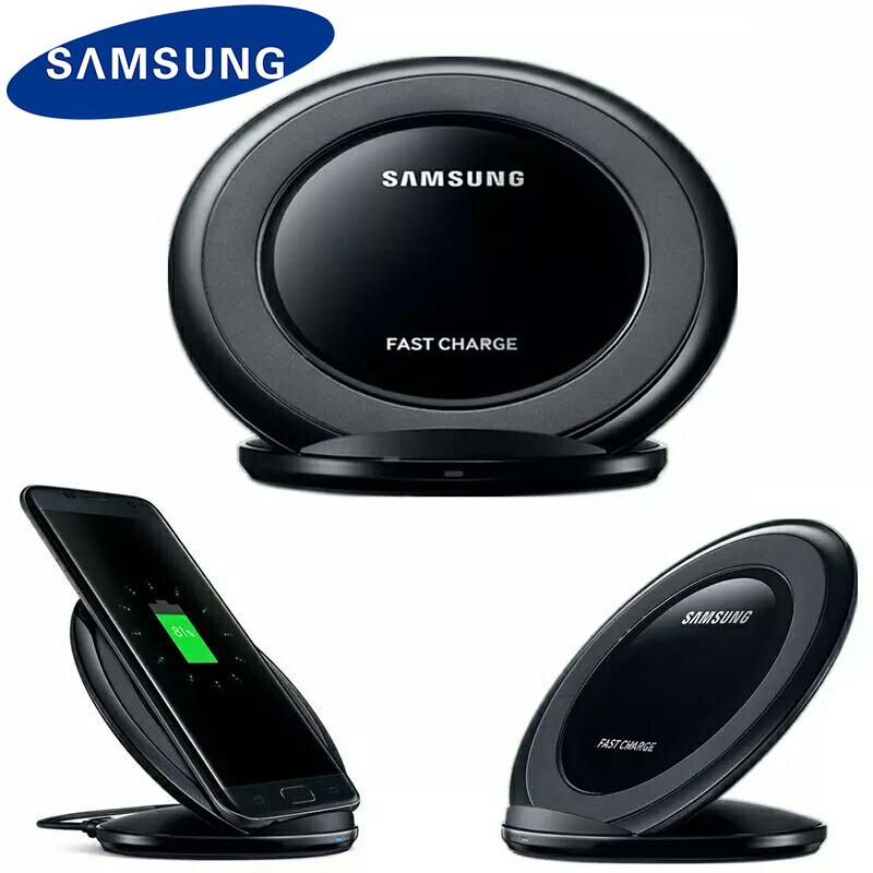 Original <font><b>Samsung</b></font> Qi Wireless <font><b>Charger</b></font> Pad For Galaxy <font><b>S9</b></font> S10 S8 Plus S7 edge Note 9 8 10 plus For iPhone 11 X XR XS Fast Charging image