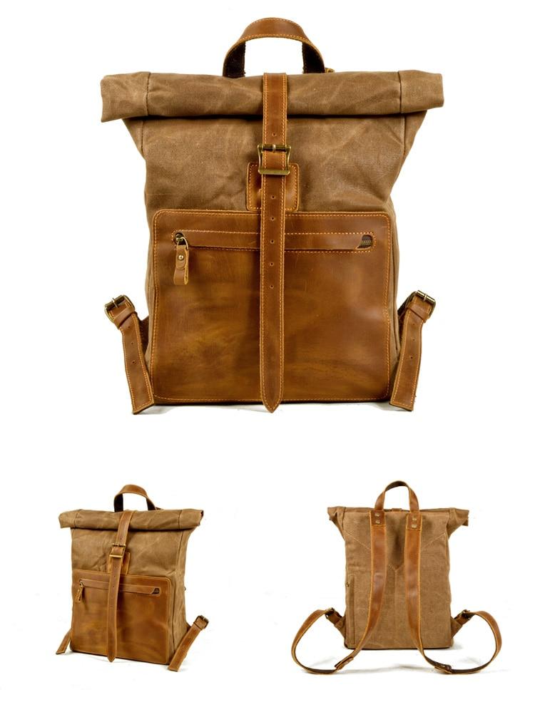 Retro mochila de viagem ao ar livre