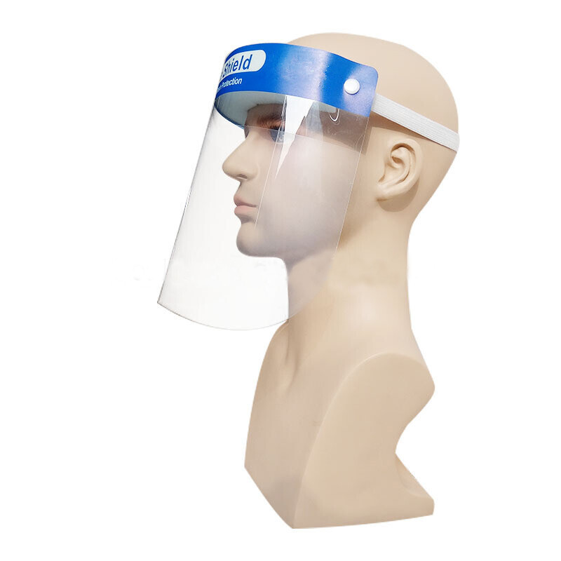 Fast Shipping 100pcs Protective Mask Face Shield PET Isolation Panel Anti-fog Anti-splash Safety Mask CE FDA Certification