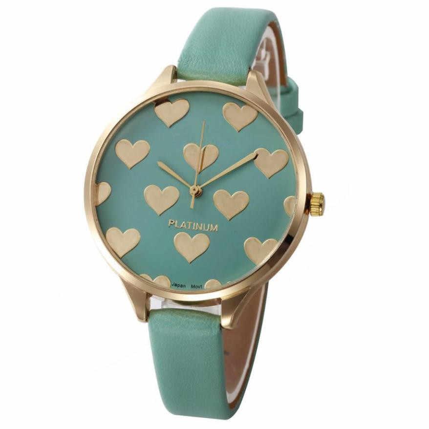 Reloj de pulsera de cuarzo de imitación de cuero informal para mujer, relojes de pulsera para mujer, regalos para mujer, reloj de vestir Casual