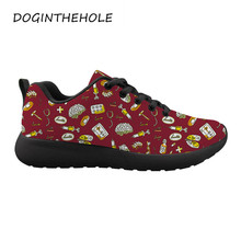 Woman Casual Shoes Breathable Sneakers Cartoon Doctor Appliance Printing Women New Arrivals Fashion Mesh Sneakers Shoes spring women casual shoes 2019 new arrivals fashion fast delivery breathable mesh female shoes women sneakers