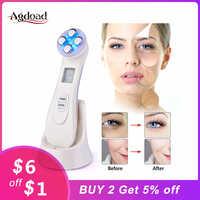 Livraison directe 5 en 1 RF radiofréquence LED Photon hydrater l'acné enlèvement des points noirs rajeunissement de la peau peau serrer outil de soin du visage
