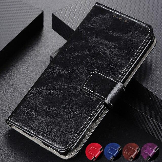 יוקרה רטרו Flip עור ארנק מגנטי סגירת כרטיס חריצי כיסוי מקרה עבור iPhone 11 פרו מקס Xs Max Xr X 8 בתוספת/8 7 בתוספת/7