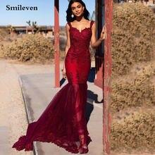 Smileven кружевное вечернее платье русалки Формальные Длинные