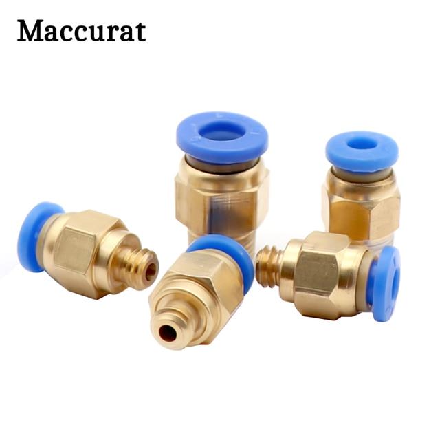 10 pièces PC4-M6 PC4-01 PC6-01 connecteurs pneumatiques partie en laiton pour MK8 Tube Filament M6 M10 raccord dalimentation coupleur 3D imprimantes pièces
