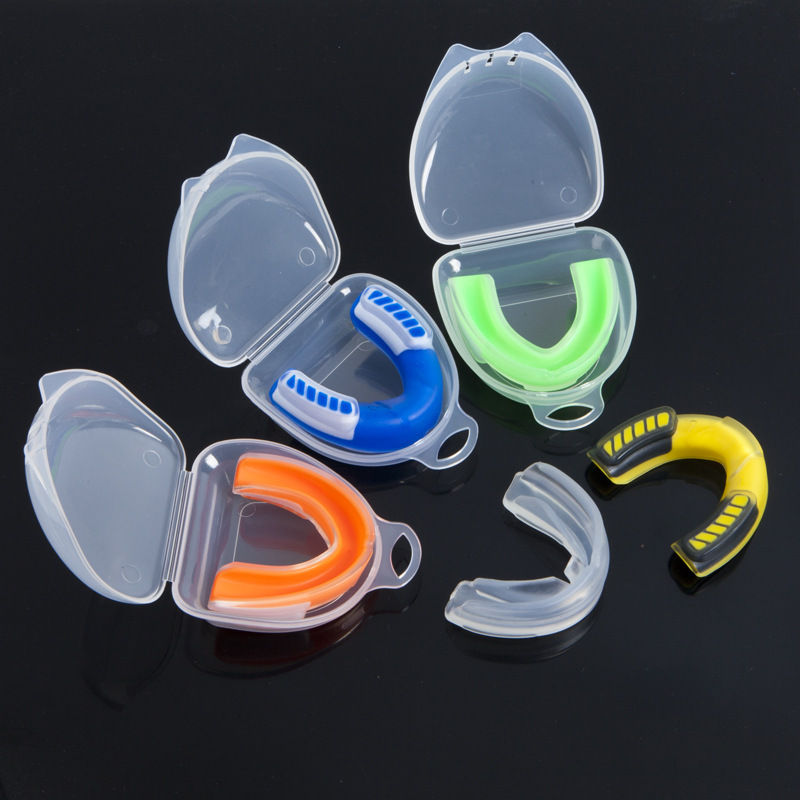 Children Adult Color Basketball Boxing Sanda Dental Care Sets Taekwondo Muay Thai MMA Fighting Boxing Dental Care Protective Clo