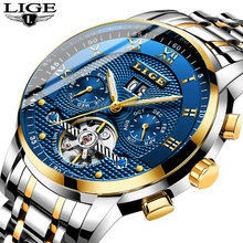 Relogio Masculino LIGE Automatic Mechanical Mens Watches Top Brand Luxury Business Watch Men Full Steel Waterproof Sport Watches mens watches top brand lige luxury automatic mechanical watch men full steel business waterproof sport watches relogio masculin