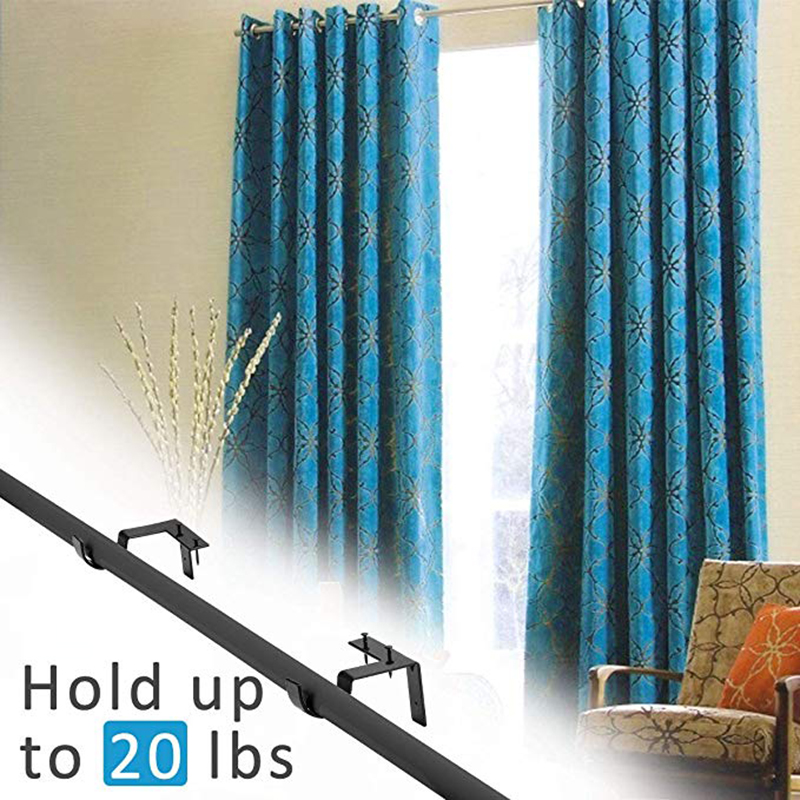 curtain rod brackets no drill hang curtain rod holder curtain bracket tap in window frame super carrying double curtain