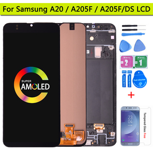 6.4'' Super AMOLED For Samsung Galaxy A20 A205 SM-A205F A205FN LCD Display With Touch Screen Digitizer Assembly(China)