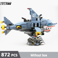 872pcs Garmadon Mech Shark Model Building Blocks compatible LEGOing Stacked Children's Brick Toys