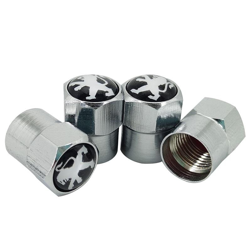 4pcs High Quality New Metal Car Wheel Tires Valves Tyre Stem Air Caps For Peugeot 307 Peugeot 206 308 207 406 Car Accessories