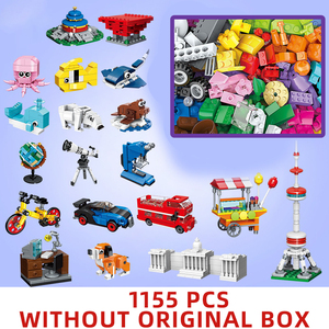 Image 1 - 1000 pcs parts pieces Creative Designer DIY Toys building blocks MOC creator Classic sets removal pliers panel tools kits