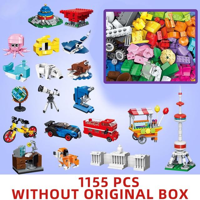 1000 pcs parts pieces Creative Designer DIY Toys building blocks MOC creator Classic sets removal pliers panel tools kits