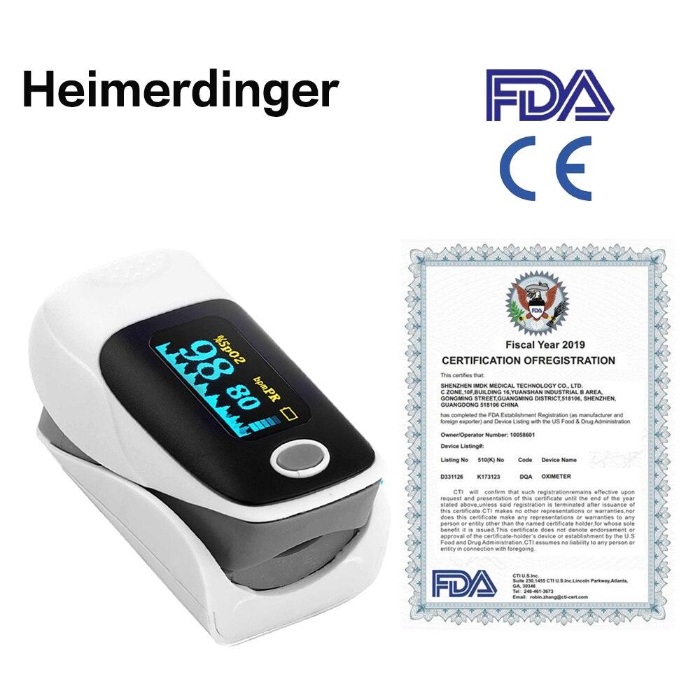 Fingertip Pulse Oximeter Blood Pressure Oximetry Heart Rate Monitor SpO2 Oximetry Monitor Without Battery For Women Men Kids