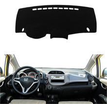 SJ Antislip Auto Inner Auto Dashboard Cover Dashmat Pad Tapijt Zonnescherm Dash Board Cover Fit Voor Honda FIT 2008-2011 2012 2013(China)