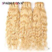 613 Blonde Menselijk Haar Bundels Braziliaanse Hair Weave Bundels Straight 613 Honing Blond Human Hair Extension 30 32 Inch Remy haar(China)