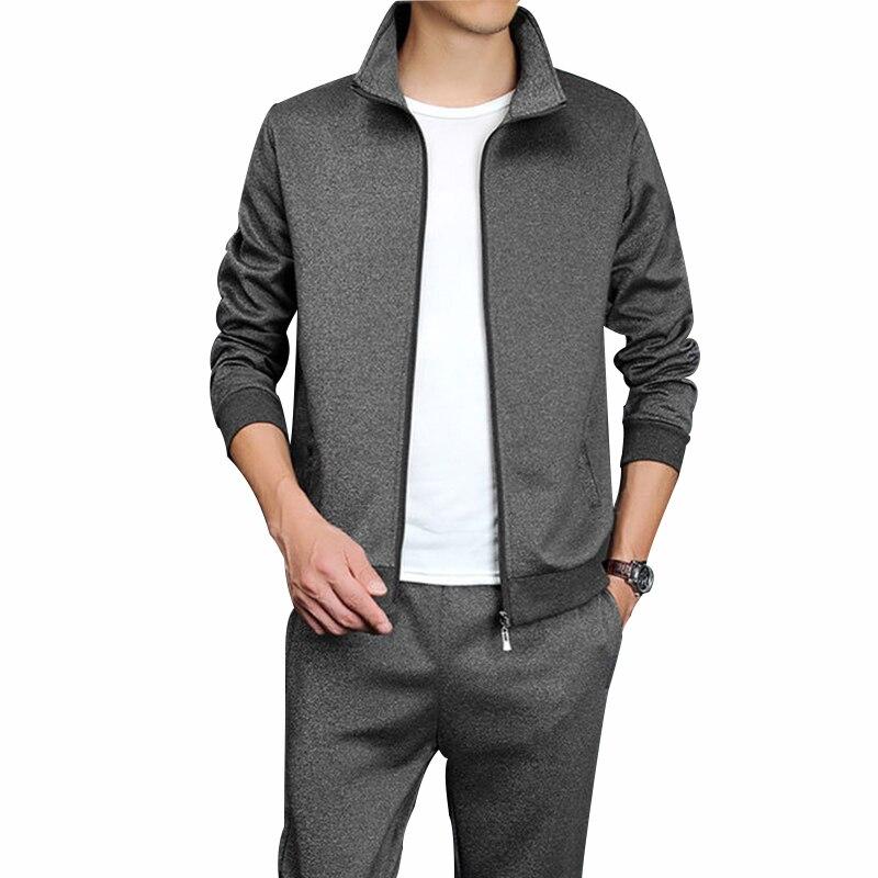 Rlyaeiz Oversized 5XL Spring Sporting Suits Men 2019 Autumn Casual Set Men Tracksuit Zipper Hoodies + Pants Male Sporting Wear
