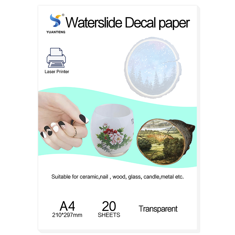 (20pcs/lot) No Need Spray Laser Clear/transparent Water Slide Decal Paper Water Transfer Paper For Mug Waterslide Paper A4 Size