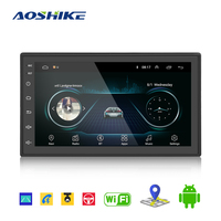 AOSHIKE 7 Car Multimedia Player 2.5D Andriod GPS Navigation 2DIN HD Autoradio WiFi Bluetooth USB FM 2 Din Audio Radio Stereo